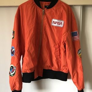 Forever 21 x nasa bomber jacket
